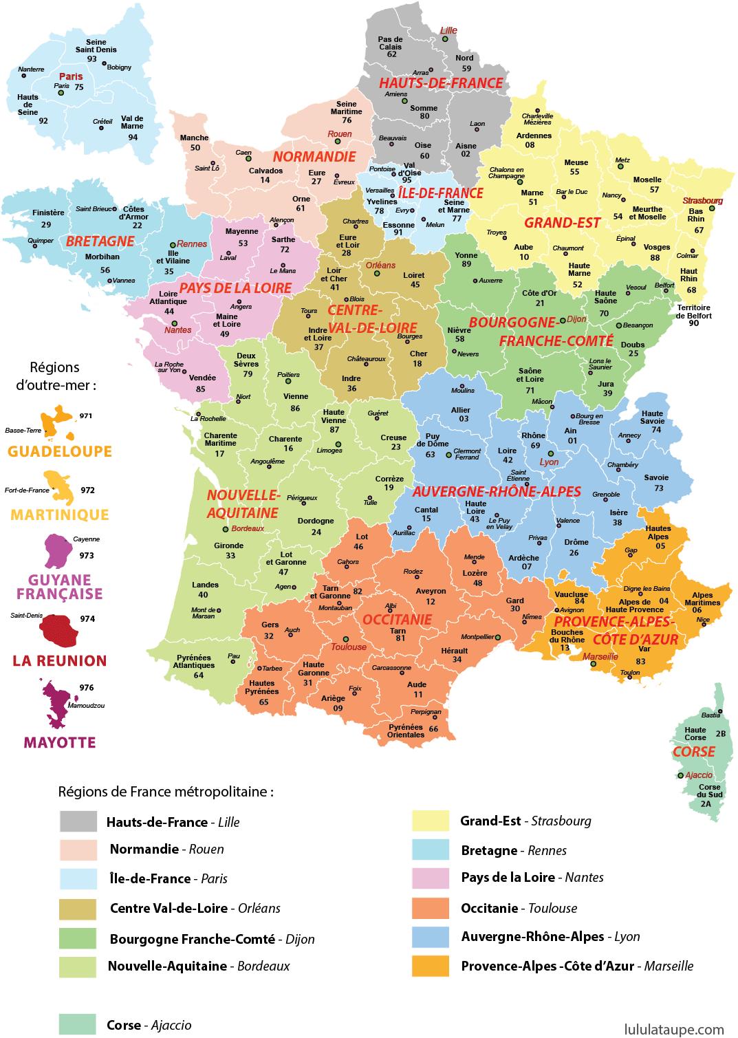 carte region Administrative division   SamSam
